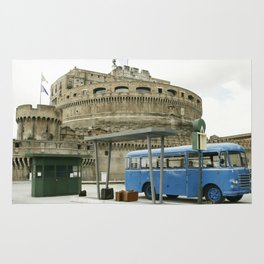 Castel Sant Angelo between past and present in color Rug