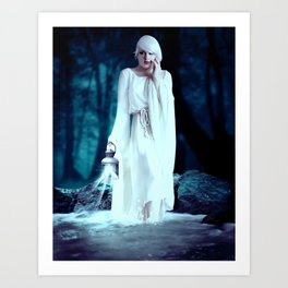 By Nights Light Art Print