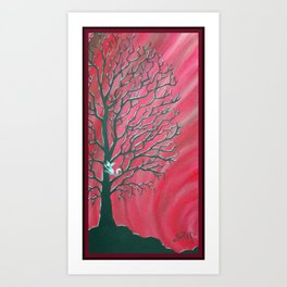 Happy Critter Tree no. 3 Art Print