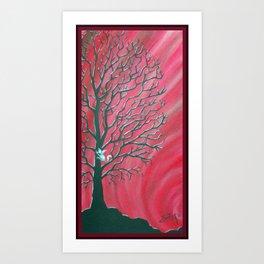 Happy Critter Tree no. 3 Art Print