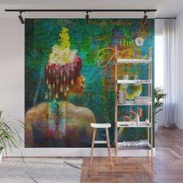 Fantasy Grapevine Goddess Wall Mural