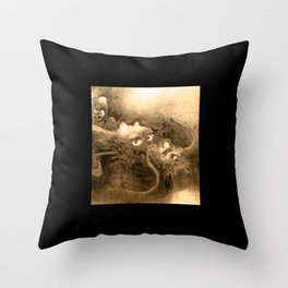 Dragon and wave,Tiger among bamboo by Kano Tannyu (1602-1674) Throw Pillow