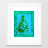 budi satria kwan Framed Art Prints featuring Jade Kwan Yin by Jan4insight