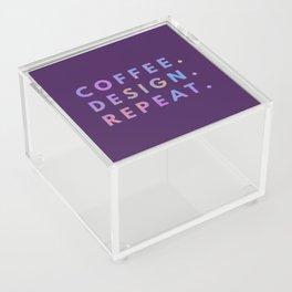 Coffee Design Repeat Acrylic Box