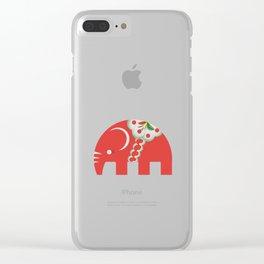 Swedish Elephant Clear iPhone Case