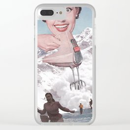 Doris Whisker Clear iPhone Case