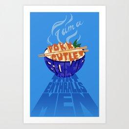 Pork Cutlet Bowl Fatale Art Print