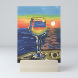 Sipping under Sunset Mini Art Print