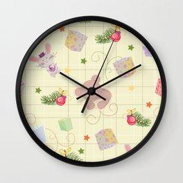 Christmas Elements Children's Christmas Design Wall Clock