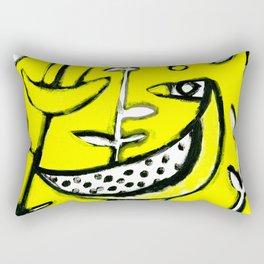 Sunlit Mid-Century Bird Rectangular Pillow