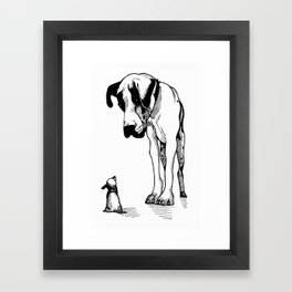 Great Dane & Chihuahua Framed Art Print