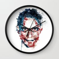 obama Wall Clocks featuring Obama by I AM DIMITRI