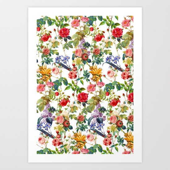 Botanic Flowers Art Print