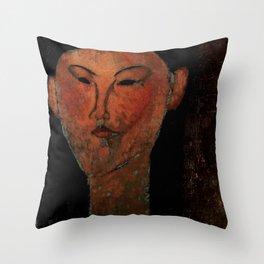 "Amedeo Modigliani ""Beatrice Hastings"" (1915) Throw Pillow"