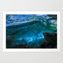The underground lake Art Print
