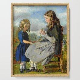 """John Everett Millais """"The Garland Weavers"""" Serving Tray"""