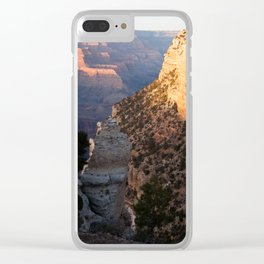 Grand Canyon south rim at sunset Clear iPhone Case