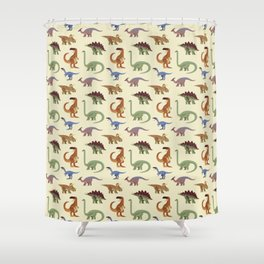 Dino Dinosaur Dinosaurs Primeval Children Pattern Shower Curtain