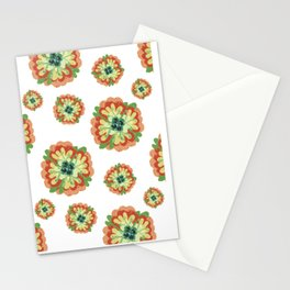 Bright Folk Mexican Style Flower  Stationery Cards