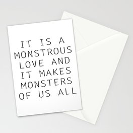 Monstrous Love Stationery Cards