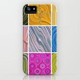 Electric Field Art Collage II iPhone Case