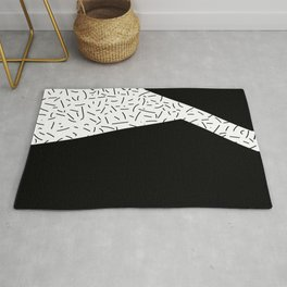 Speckled Black II - Abstract Art Rug