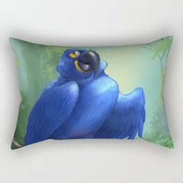 Moseley the Hyacinth Macaw Rectangular Pillow