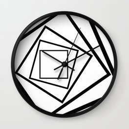 Hypnotic Black And White Wall Clock