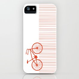 Red Bike by Friztin iPhone Case