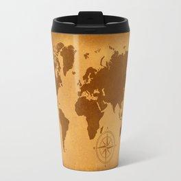 World Map nostalgic Travel Mug