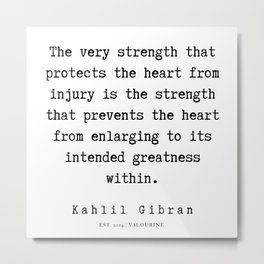105 | Kahlil Gibran Quotes | 190701 Metal Print