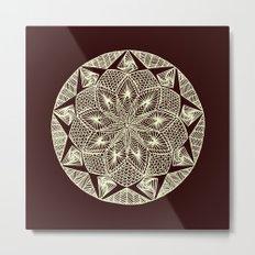 Maroon Mandala Metal Print