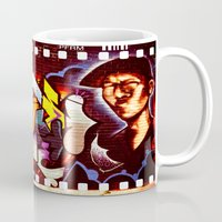 grafitti Mugs featuring Grafitti Strip Film by Squint Photography