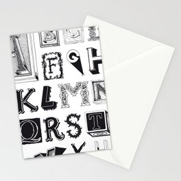 The Alphabetical Stuff - Complete Stationery Cards
