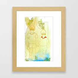 Hold Hands in Times of Trouble Framed Art Print