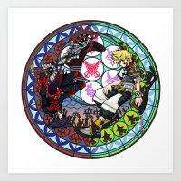 kingdom hearts Art Prints featuring Kingdom Hearts Vanitas & Ventus by Szilárd A Legjobb