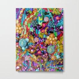 Wild Glitter Metal Print