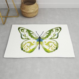 Watercolour Spring Butterfly Rug