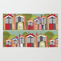 jane austen Area & Throw Rugs featuring Literally Living in a Jane Austen Novel by Sharon Turner