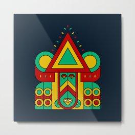 aztec colorful tribe Metal Print