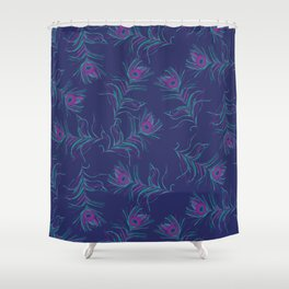 Peacock Feathery Shower Curtain