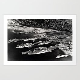 View of Puget Sound Navy Yard in 1940 Art Print