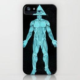 Seeing Eye, blue iPhone Case