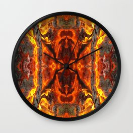 The jewel of fire Wall Clock