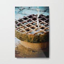 drainage Metal Print