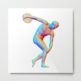 The Discus Thrower Metal Print