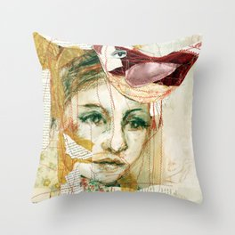 red bird Throw Pillow