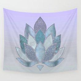 Elegant Glamorous Pastel Lotus Flower Wall Tapestry