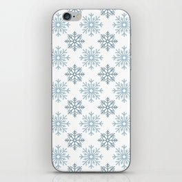 Snowflake pattern iPhone Skin