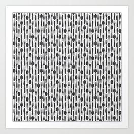 Kithen Cutlery Art Print